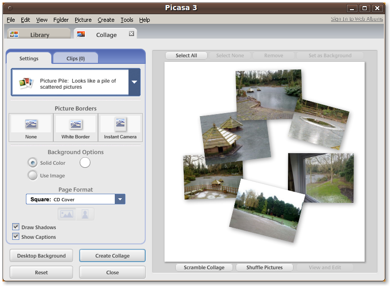 Picasa 3 Linux Screenshot