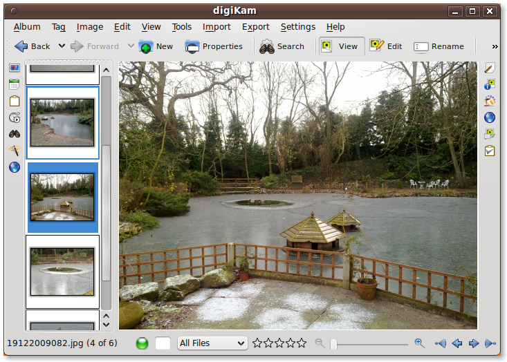digiKam Linux photo album software screenshot