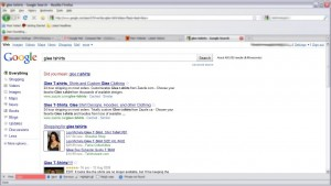 Google Results Page - Web design redesign March 2010