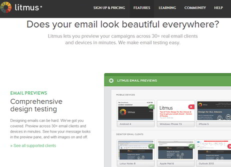 Using Litmus Email Testing to test email design