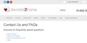 devoted2home FAQ's page