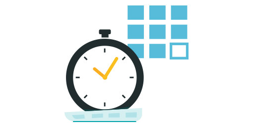 A vector graphic of a stopwatch