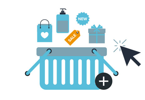 Graphic showing shopping basket