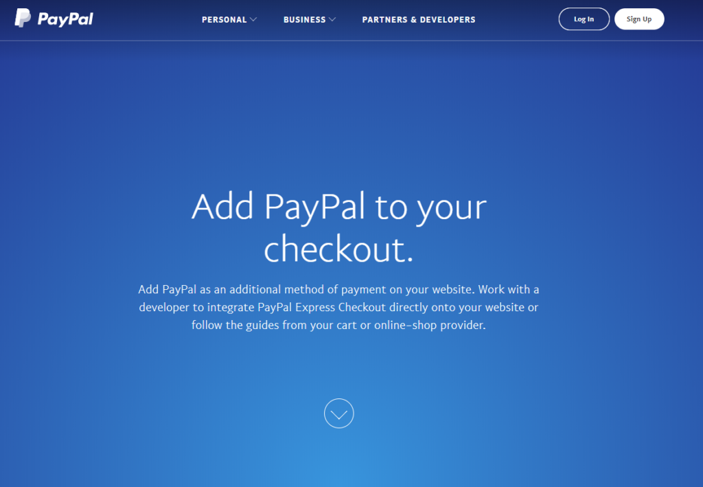 Graphic of PayPal checkout website